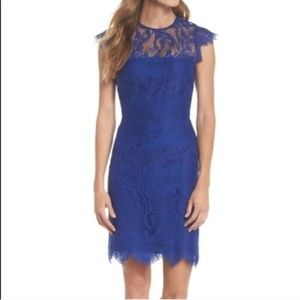 BB Dakota blue lace evening cocktail dress revolve